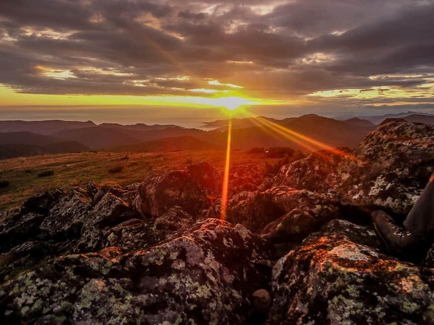 GÓRY CHAMAR DABAN - pik Czerskiego, wschód słońca